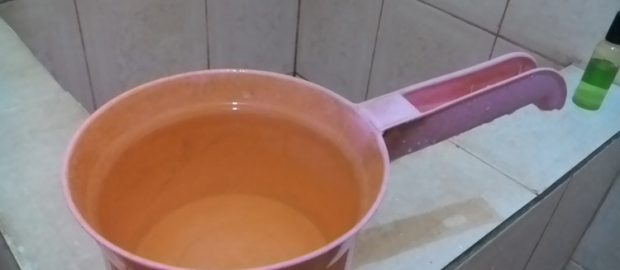 Hukum Berwudhu' dengan Air Satu Gayung (Mustakmal)