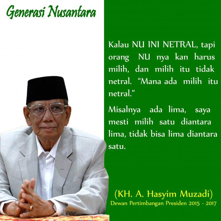 Hasyim Muzadi NU Netral
