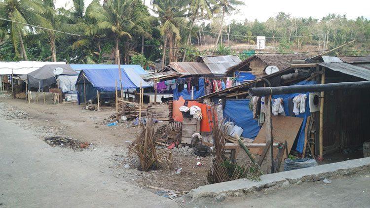 Pemukiman sementara gempa lombok