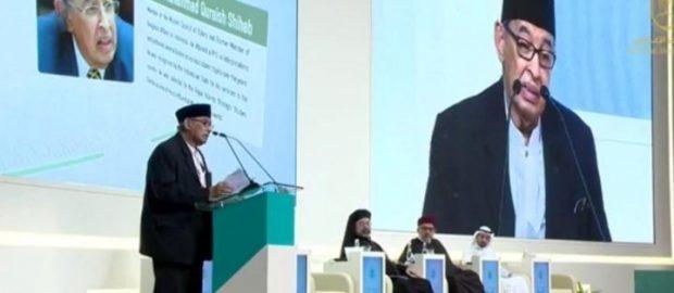 Teks Pidato Quraish Shihab dalam Pertemuan Pemimpin Agama Sedunia
