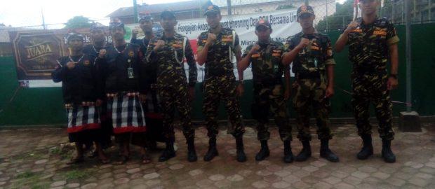 Banser dan Pecalang Membantu Pengamanan Pengajian Akbar Majelis Ratibul Haddad Se-Bali
