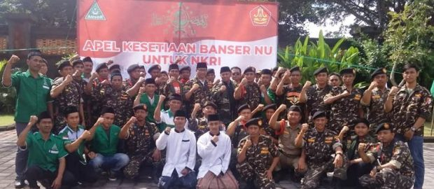 Apel Kesetiaan Banser pada NKRI bersama Wakil Bupati Badung, Dengungkan Ideologi Bangsa