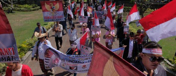 Aksi Aliansi Bhinneka Sakti Tolak Penggiringan Opini Pelemahan KPK