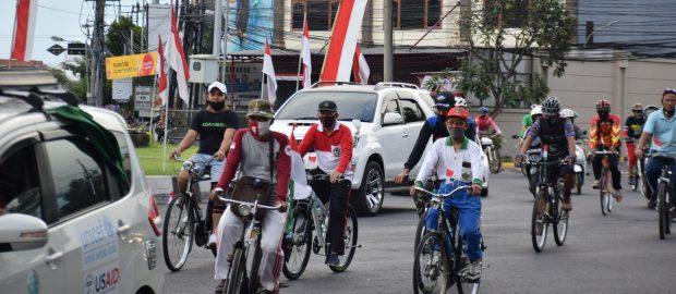 Gowes Kemerdekaan Rekatkan Ukhuwah Nahdliyyin Bali