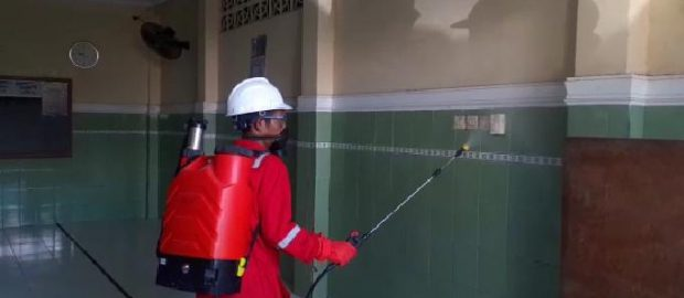 Treatment Disinfektan, Cara LPBINU Kota Denpasar Memutus Rantai Penyebaran Covid- 19