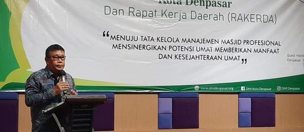 Rakerda dan Pelantikan PD DMI Kota Denpasar, Jalin Sinergitas Pemerintah dan Umat