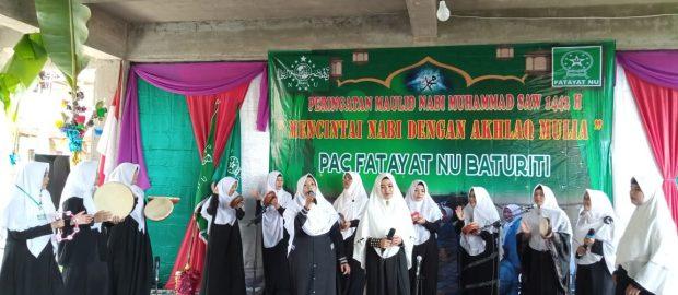 Peringatan Maulid Nabi 1442 H, Fatayat NU Baturiti Satukan Grup Pengajian