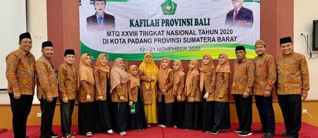 Kakanwil Kemenag Provinsi Bali Dampingi Langsung Kontingen MTQ Nasional 2020 ke Sumbar