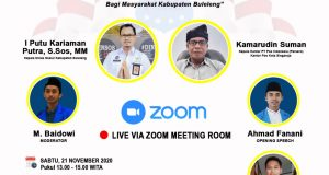 Webinar PMII Buleleng Bersama Kemenaker dan Pos Indonesia Bahas Bansos Tunai Masyarakat