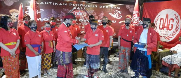 Pelantikan Pengurus Baru, DPD DAG Bali Ajak Bersama Cegah Gerakan Proxy
