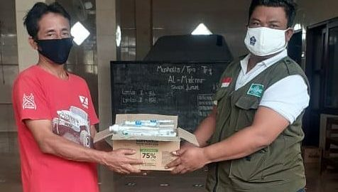 LPBI NU Kota Denpasar Bagikan Hand Sanitizer, Upaya Cegah Penyebaran Covid 19