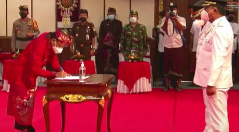 Pelantikan 6 Bupati-Wali Kota Terpilih di Bali Dilakukan Secara Hybrid