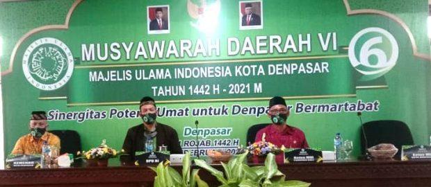 Musda MUI Denpasar Telah Digelar, Ini Susunan Pengurus Masa Khidmat 2020-2025