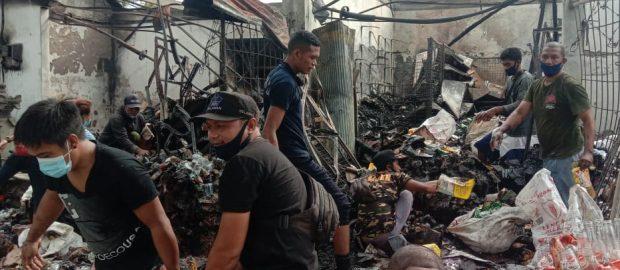 Bantu Korban Kebakaran, PAC Ansor Kuta Utara Terjunkan Anggota Banser