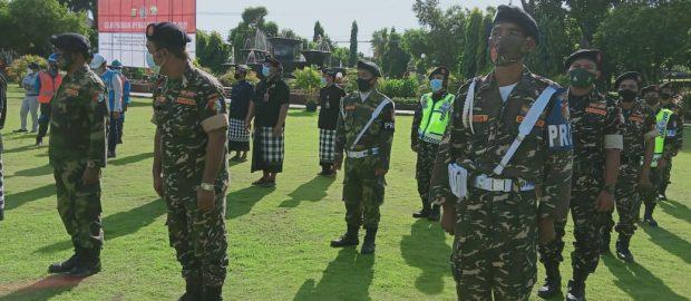 Mengikuti Apel Gelar Pasukan, Banser NU Buleleng Siap Bantu Operasi Ketupat Agung 2021