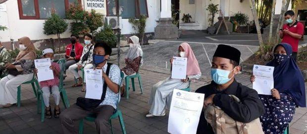 Pemkab Badung Melalui PCNU Badung Fasilitasi Tes Rapid Antigen Utusannya di STQH Bali 2021