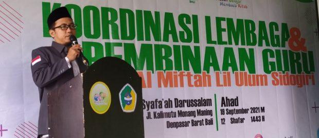 Alumni dan Santri Sidogiri Bali Sampaikan Metode Al Miftah Lil Ulum Sidogiri